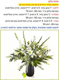 מפרט מדויק של הרכב זר הפרחים עם תמונה אותנטית